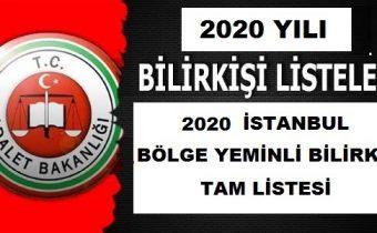 2020 istanbul yeminli bilirkişi güncel liste